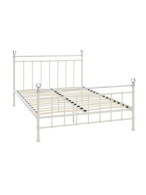 BOXED GRADE 1 FRANCESCA IVORY KING SIZED BED FRAME (2 BOXES)