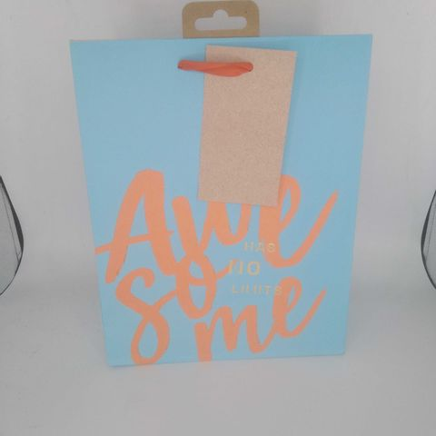 APPROXIMATELY 249 PACKS OF 8 'AWESOME HAS NO LIMITS' GIFT BAGS