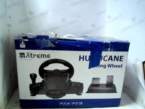 HURRICANE GAMING STEERING WHEEL WITH PEDALS