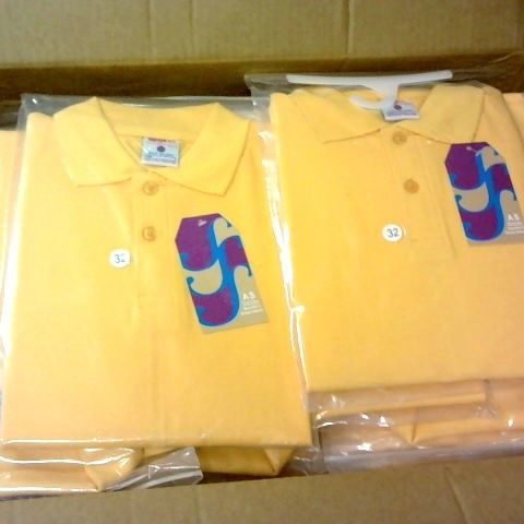 LOT 0F APPROXIMATELY 80 YELLOW BOYS POLO SHIRTS IN VARIOUS SIZES