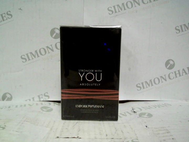 EMPORIO ARMANI STRONGER WITH YOU ABSOLUTELY EDP - 100ML - BRAND NEW SEALED