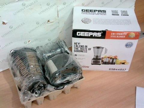 GEEPAS GSB44017 3 IN 1 STAINLESS STEEL BLENDER
