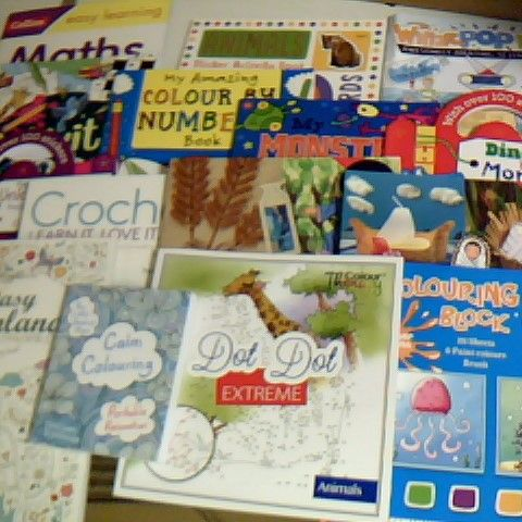ASSORTMENT OF 15 CRAFT BOOKS, COLOURING BOOKS AND ACTIVITY BOOKS