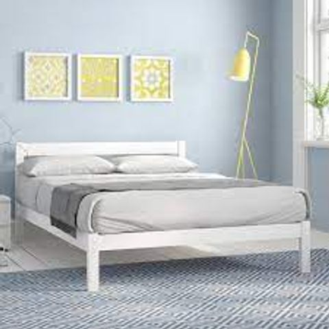 ECO WHITE BED FRAME SIZE DOUBLE 4'6