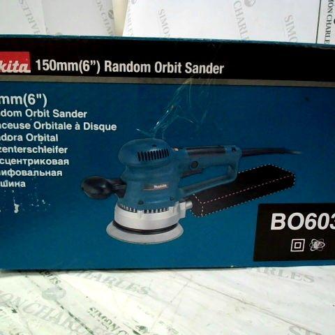 """MAKITA BO6030 152MM (6"""") RANDOM ORBIT SANDER"""