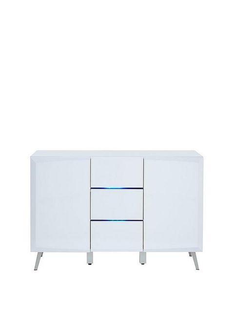 BOXED GRADE 1 XANDER LARGE WHITE HIGH GLOSS SIDEBOARD (1 BOX) RRP £189.00