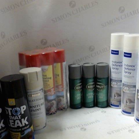 LOT OF ASSORTED ITEMS TO INCLUDE; INSECT SPRAY, FLEA DEFENCE, DEODORANT ETC