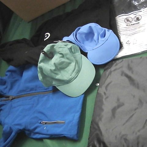 BOX OF ASSORTED BOYS CLOTHING TO INCLUDE COAT, HOODIE HAT