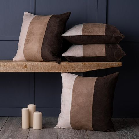 BAXTER SUEDE CUSHION COVER - BROWN