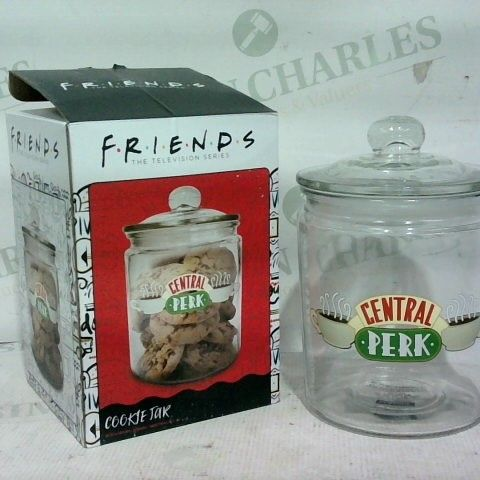 FRIENDS CENTRAL PERK GLASS TRANSPARENT COOKIE JAR