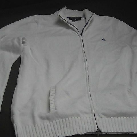 POLO RALPH LAUREN WHITE KNITTED JACKET XL