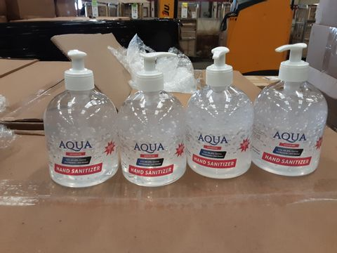 PALLET OF APPROXIMATELY 45 BOXES OF 24 BRAND NEW AQUA ADVANCED 70% ALCOHOL 500ML HAND SANITIZER BOTTLES