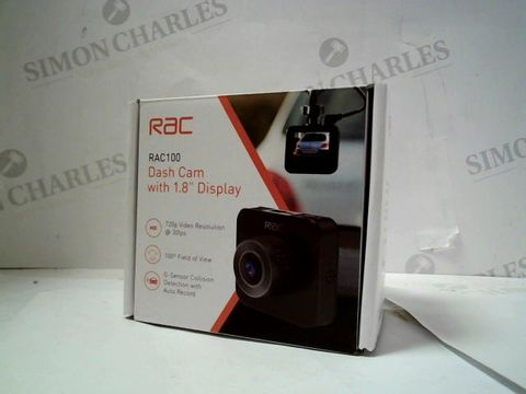 """RAC 100 DASH CAM WITH 1.8"""" DISPLAY"""