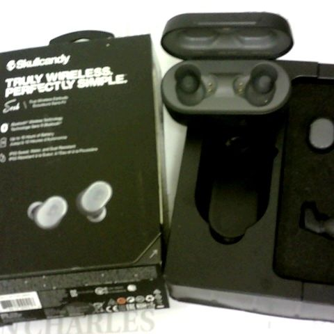 SKULLCANDY TRULY WIRELESS EARBUDS - BLUETOOTH, UP TO 10HRS, IP55 SWEAT, WATER & DUST RESISTANT