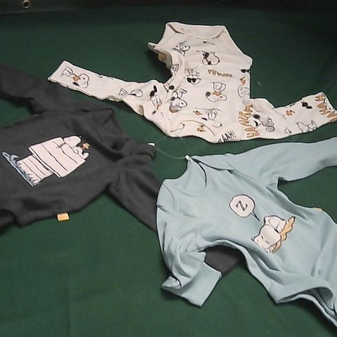 M&S PEANUTS 3 PIECE BABY GROW COLLECTION 3-6 MONTHS