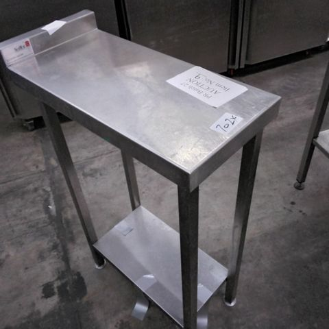 COMMERCIAL METAL INFILL PREP TABLE WITH UNDERSHELF 30 × 65cm