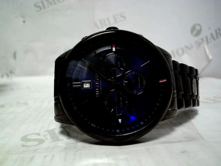 TOMMY HILFIGER KYLE BLUE SUNRAY CHRONOGRAPH WATCH