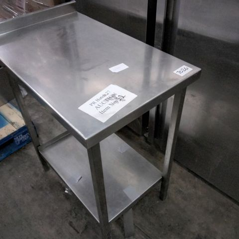 COMMERCIAL METAL PREP TABLE WITH UNDERSHELF 50 × 80cm