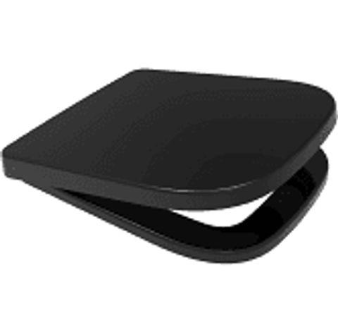 BOXED FAIRMONT SOFT CLOSE BLACK TOILET SEAT (1 BOX)