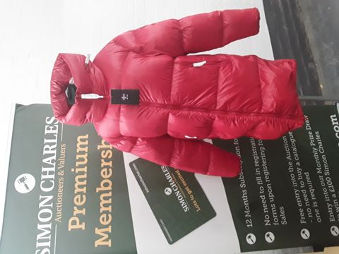 ZO-ON RED GOOSE DOWN COAT SIZE M