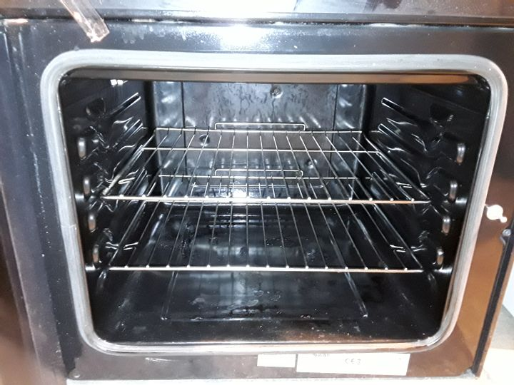 SWAN SX15100B 60CM TWIN ELECTRIC COOKER WITH CERAMIC HOB BLACK