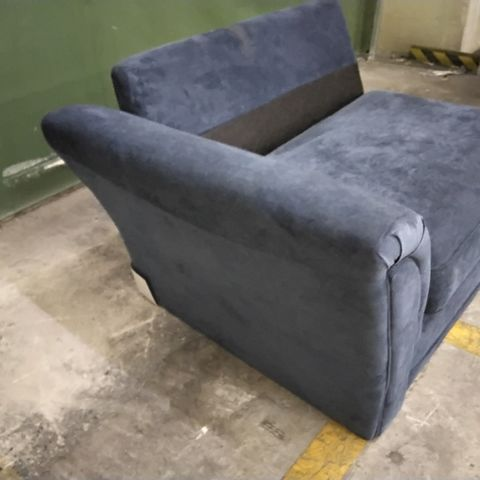 BLUE FABRIC SECTION - NO BACK CUSHIONS
