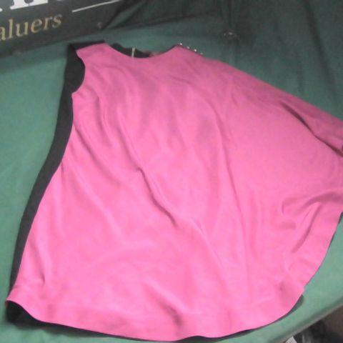 TED BAKER PINK/BLACK DRESS TB SIZE 1
