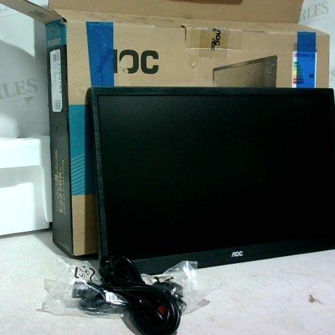 "AOC (E2270SWDN) 21.5"" FULL HD LED WALL MOUNTABLE MONITOR - BLACK"