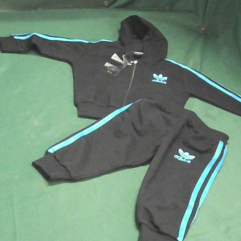ADIDAS TRACKSUIT BLACK/BLUE (SIZE UNSPECIFIED)