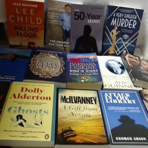 LOT OF APPROXIMATELY 25 ASSORTED FICTION PAPERBACK BOOKS TO INCLUDE; LEE CHILD, DOLLY ALDERTON, GEORGE ARION ETC