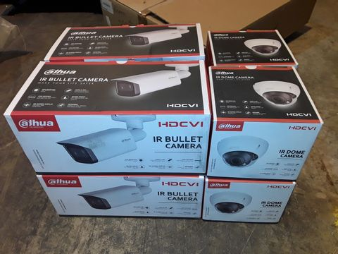 LOT OF 8 AJHUA HDCVI IR CAMERAS TO INCLUDE DOME AND BULLET STYLES