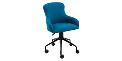 BOXED CECIL LINEN OFFICE CHAIR- LIGHT BLUE (1 BOX)