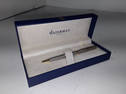 WATERMAN PARIS SILVER/GOLD BALLPOINT PEN