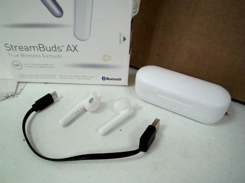 MIXX AUDIO STREAM BUDS AX TRUE WIRELESS EARBUDS - WHITE