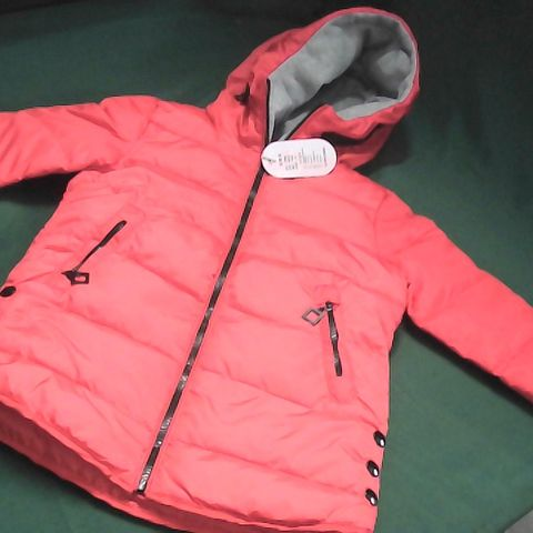 RED BUBBLE COAT AGE 10