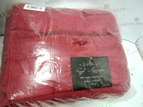 ROYAL KENSINGTON 10 PIECE TOWEL BALE - BURGUNDY