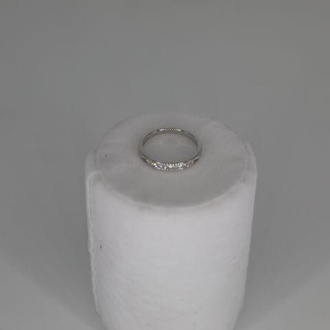 9CT WHITE GOLD DIAMOND SET HALF ETERNITY RING