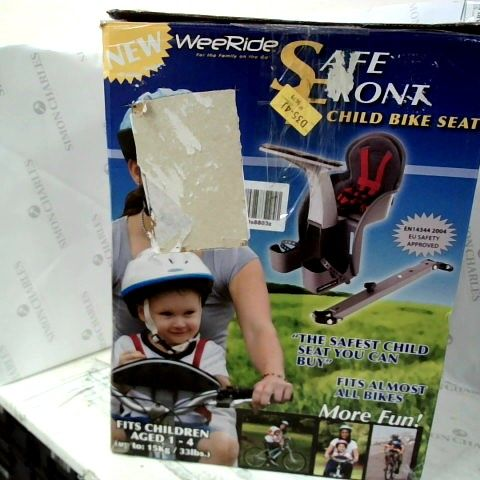 WEE RIDE SAFE FRONT CHILD SEAT BIKE  ATTACHMENT
