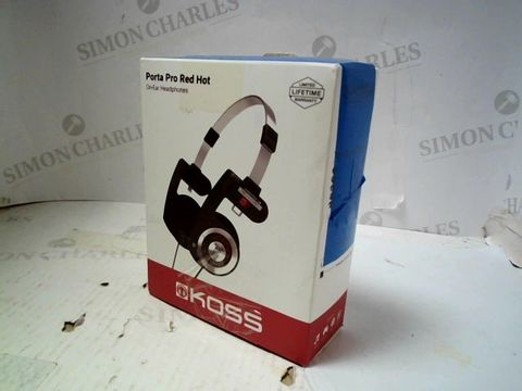 KOSS PORTA PRO RED HOT ON-ERA HEADPHONES