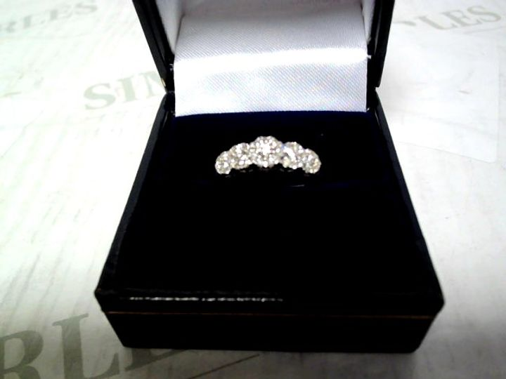 LOVE DIAMOND 9 CARAT WHITE GOLD, 35 POINT 5 CLUSTER ETERNITY RING