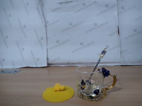 FLOWER TEA CUP AND SPOON