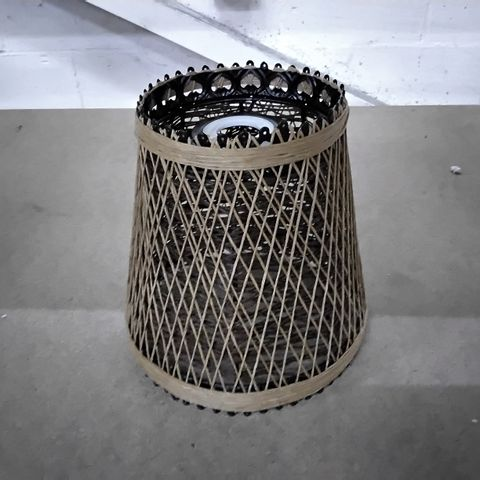 18 TO 12CM RATTAN BELL LAMP SHADE