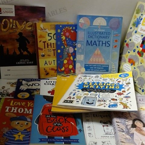 LOT OF APPROXIMATELY 40 ASSORTED KIDS BOOKS, STICKER BOOKS ETC