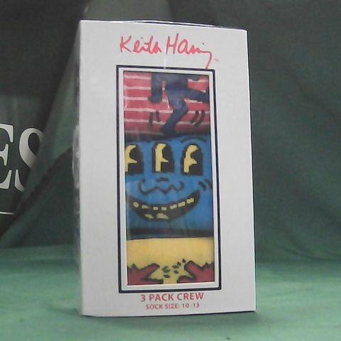 KIETH HARRING 3 PAIRS OF SOCKS PACK SIZE 10-13
