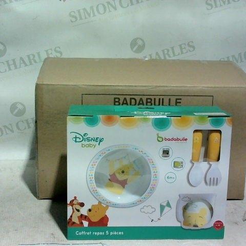 BRAND NEW BADABULLE - DISNEY BABY WINNIE LUNCH SET - BOX OF 4