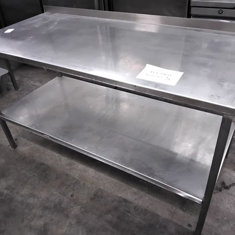 COMMERCIAL METAL PREP TABLE WITH UNDERSHELF 147 × 66cm