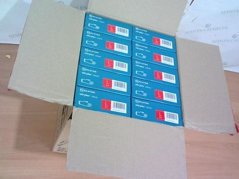 LOT OF APPROXIMATELY 1000 PAIRS OF NITRILE BLUE GLOVES