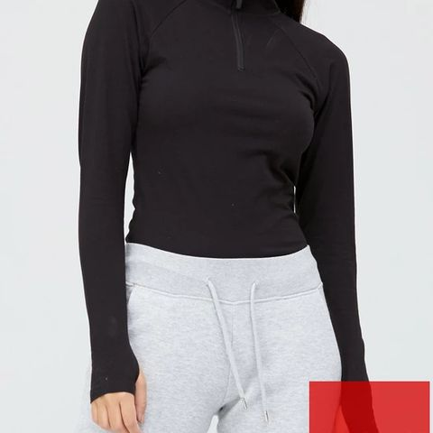 BRAND NEW ATH-LEISURE QUARTER ZIP LONG SLEEVE TOP SIZE L