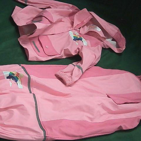 LUPILU GIRLS 2 PIECE PINK RAIN SUIT 2-4YRS