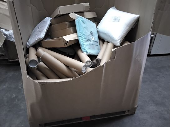 PALLET OF ASSORTED ITEMS INCLUDING DIMMABLE LED RING LIGHTS, BACKPACKS, ERASABLE WALL CALENDERS, PILLOWS,